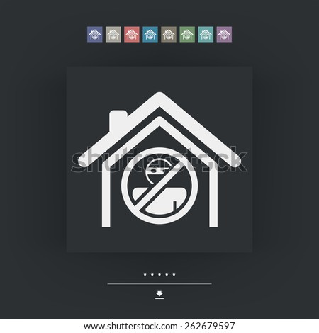 House protection icon - stock vector
