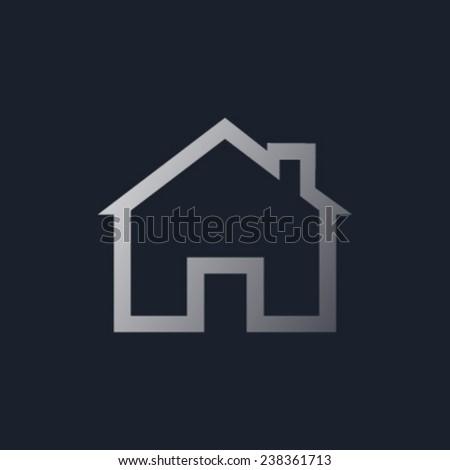House Real Estate logo design 1 - stock vector