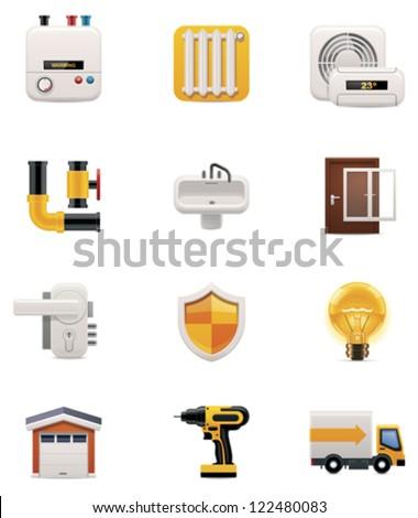 House renovation icon set. Part 2 - stock vector
