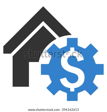 House Rent Options vector icon. Style is flat symbol, cobalt color, white background. - stock vector