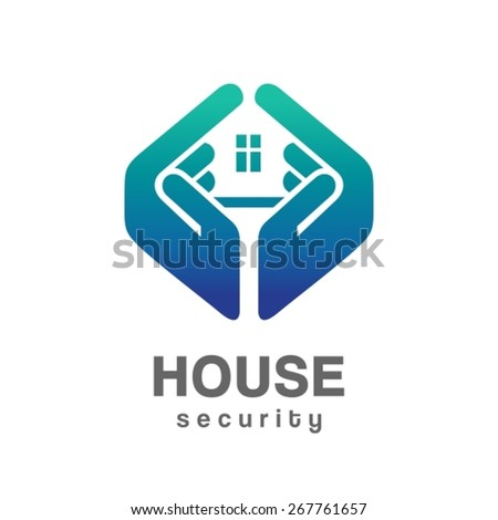 House security services logo - stock vector