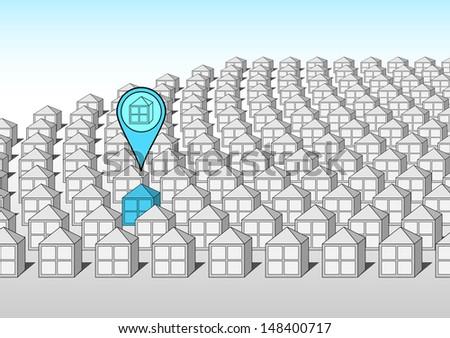 House selection - stock vector