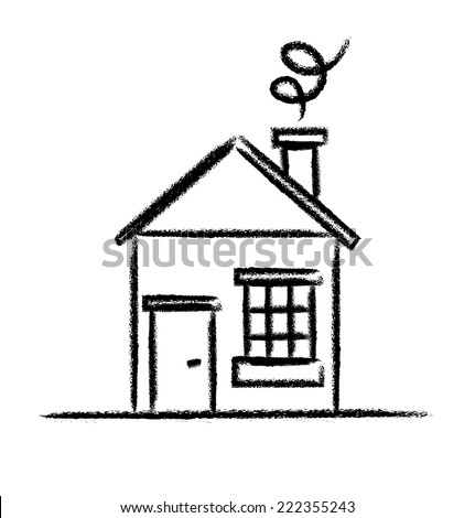 House sketch outline - stock vector