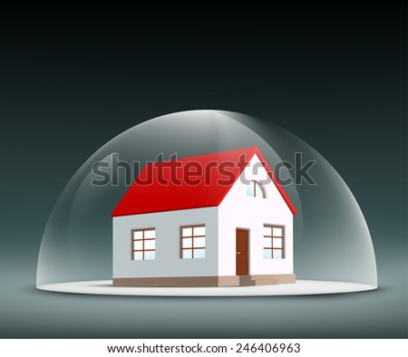 House under the dome - stock vector