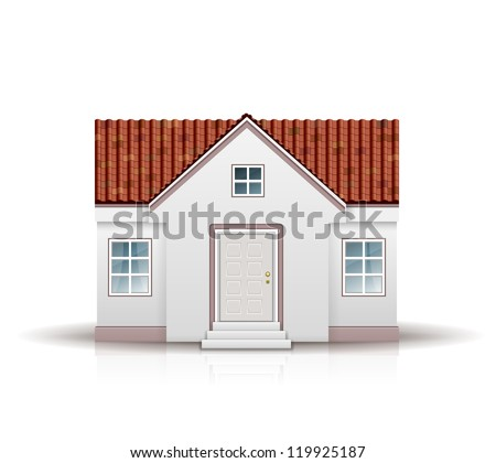 House Vector Illustration isolated on white background - stock vector
