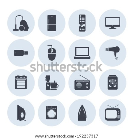 Household appliances image. Vector.  EPS-10 (non transparent elements, non gradient). - stock vector
