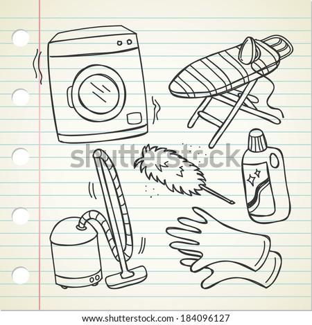 households appliances - stock vector
