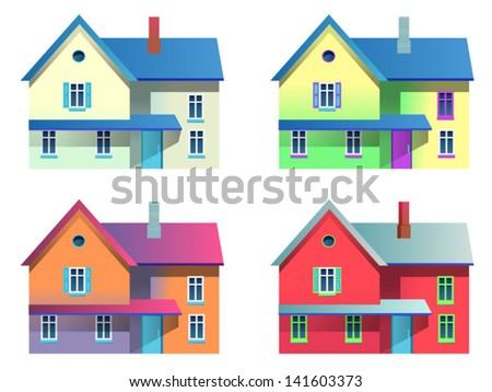 houses - stock vector