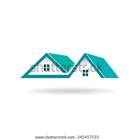 Houses and Roofs icon - stock vector