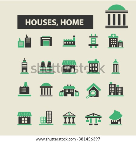houses, home icons, houses, home logo, houses, home vector, houses, home flat illustration concept, houses, home infographics, houses, home symbols,   - stock vector