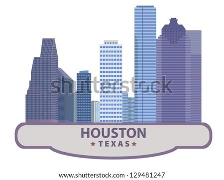 Houston. Symbol city - stock vector