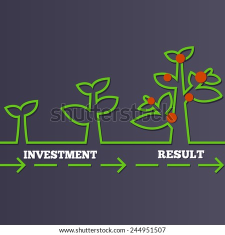 How to invest and get a result - stock vector