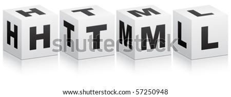 html code - stock vector