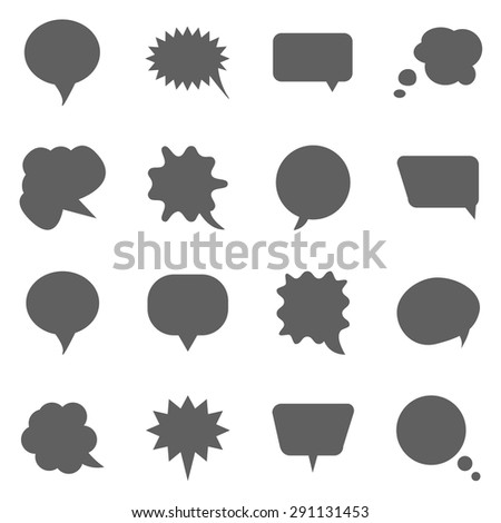 Huge cartoon speech bubble set - stock vector