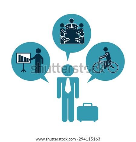 human activity design, vector illustration eps10 graphic  - stock vector