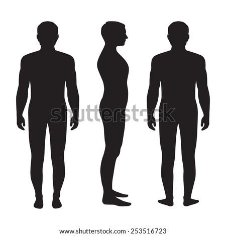 Man Full Body Back View Full Length Front Back View - Hot ...