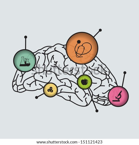 Human brain abstract medical concept.  - stock vector