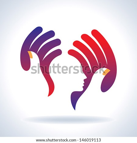 human care vector - stock vector