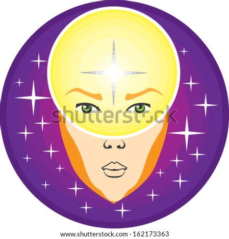 Human device psychic - stock vector