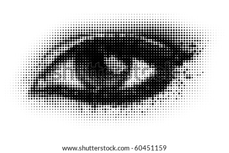 human dots eye. eps8 vector illustration. - stock vector