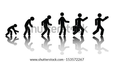 Human evolution, vector - stock vector