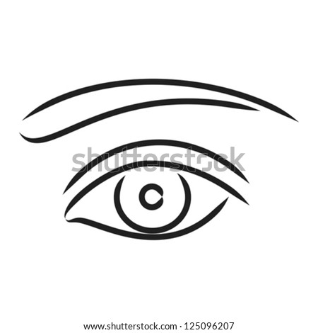 Human eye - vector illustration - stock vector