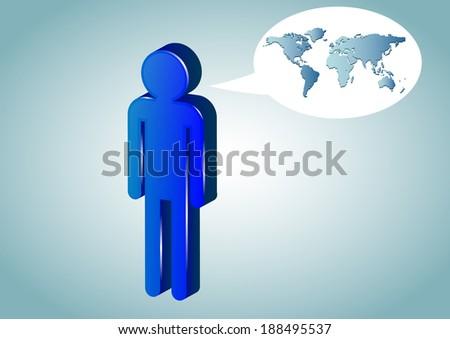 Human Figures World - vector  - stock vector