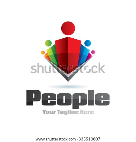 Human Leader Group Icon Logo Element - stock vector