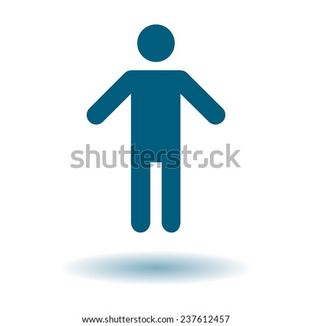 Human male sign icon. Man Person symbol. Male toilet. Flat style. EPS 10. - stock vector