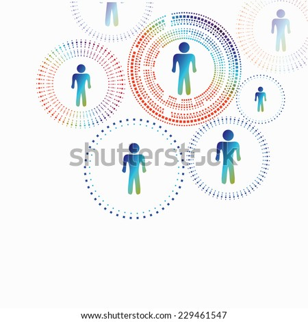 Human model connection .  Abstract technology vector for you. - stock vector