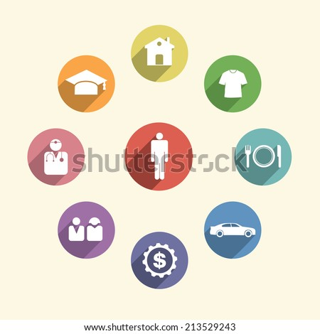 human needs illustration vector design.  - stock vector