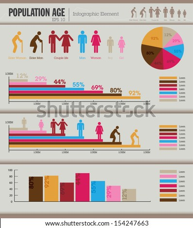 Human needs info-graphic element vector - stock vector