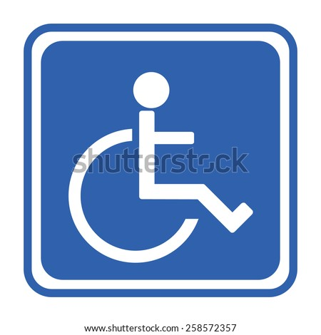 Human on wheelchair symbol - stock vector