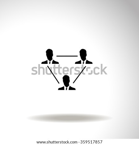 Human resource and management icon set. - stock vector