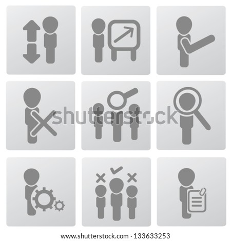 Human resource and management icons,vector - stock vector