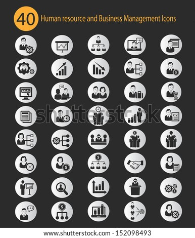 Human resource,Business concept icons,vector - stock vector