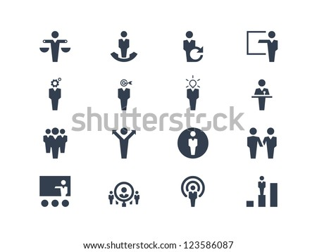 Human resource icons - stock vector