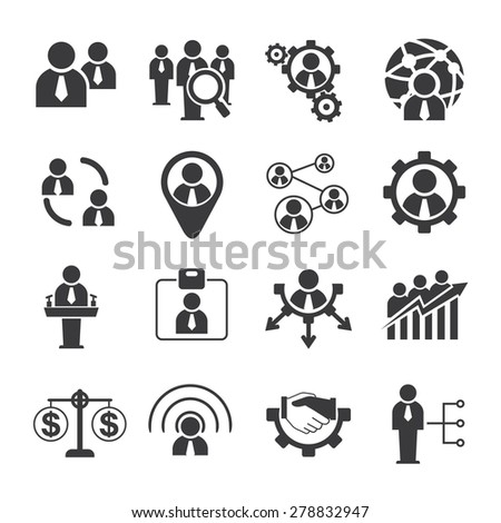 human resource icons - stock vector