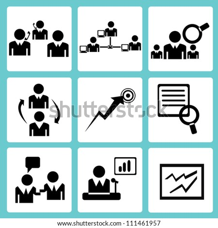 human resource management and organization icon - stock vector