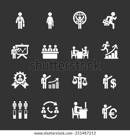 human resource management icon set 6, vector eps10. - stock vector