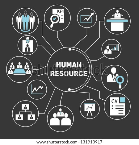 human resource mapping - stock vector