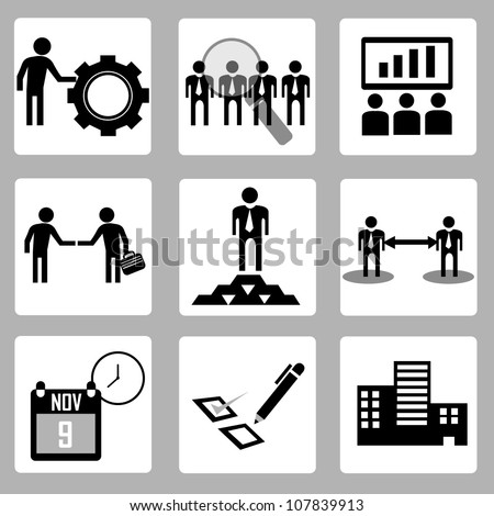 Human Resources and company - stock vector