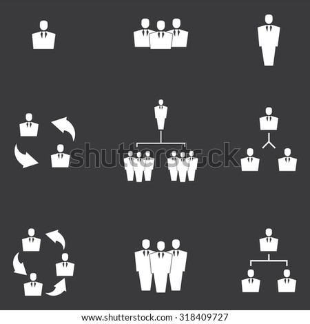 Human resources and management icons set . Vector illustration - stock vector