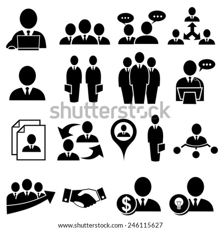 Human resources and management icons .vector - stock vector