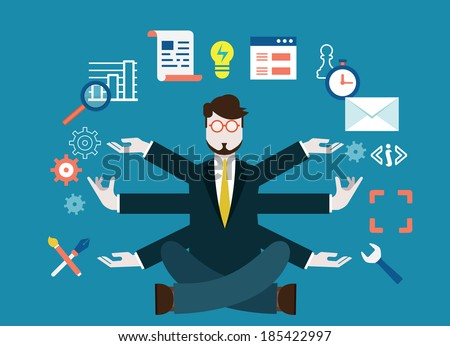 Human resources and self-development. Modern business - vector illustration - stock vector