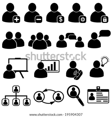 Human Resources Business Menagement Icons - stock vector