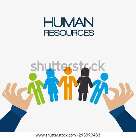Human resources design, vector illustration eps 10. - stock vector