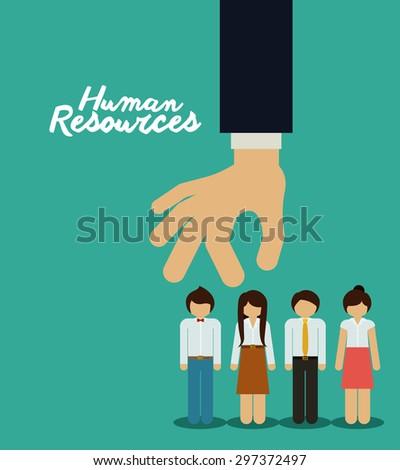 Human resources digital design, vector illustration eps 10 - stock vector