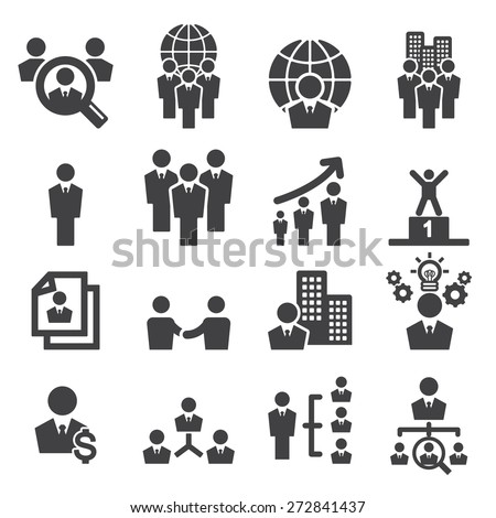 human resources icon - stock vector