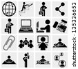 Human resources, management and business vector icons set. - stock vector